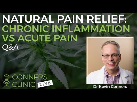Natural Pain Relief: Chronic Inflammation vs Acute Pain | Conners Clinic Live