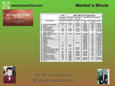 Dr. Kevin Conners - Member's Minute 3 - Chemo and RIFE new